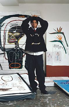 Jean-Michel Basquiat   met him…outside of his gallery in NYC…sweet, welcoming…maybe high on grass…