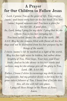 A Prayer for Our Children to Follow Jesus {Moments of Hope} – Lori Schumaker