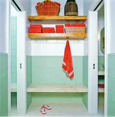 Contemporary Bathroom Bathroom Color Combinations Design, Pictures, Remodel, Decor and Ideas - page 6 Lockers, Contemporary Bathroom, Pool House, Cheap Bathroom Tiles, Floor Tile Design, Bathroom Tile Designs, Pool Changing Rooms, Farmhouse Interior Design, Pool House Decor