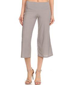 Look at this #zulilyfind! One Fashion Gray Capri Pants by One Fashion #zulilyfinds