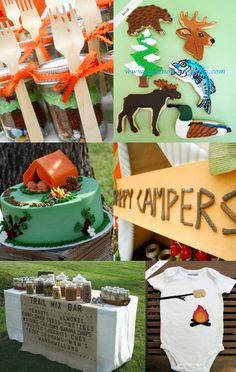 Like the cake for backyard camping party