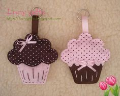 Felt Cupcakes fill with potpourri for car fresheners More