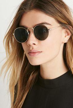 Runde Sonnenbrille - Sonnenbrillen, Brillen & Accessoires - 1000156308 - Forever 21 EU Deutsch