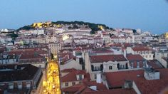lisboa  view from the top of the elevator