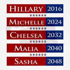 Hillary Clinton 2016 / Michelle Obama 2024 T-Shirt Kids Light T-Shirt $18.99 CafePress.com