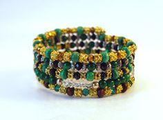 Dragon's Pearls coil bracelet by Lumibon
