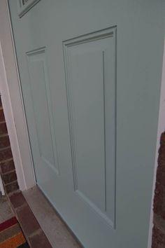 DIY Benjamin Moore Wythe Blue Painted Front Door