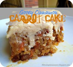 Gooey Cinnamon Carrot Poke Cake with Cinnamon Cream Cheese Frosting (from scratch)