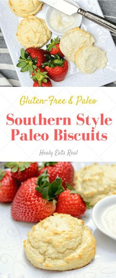 Southern Style Paleo Biscuits- These gluten free fluffy biscuits are the perfect treat for breakfast or dinner! Southern Style Paleo Biscuits- These gluten free fluffy biscuits are the perfect treat for breakfast or dinner! Gluten Free Recipes, Low Carb Recipes, Whole Food Recipes, Healthy Recipes, Healthy Meals, Paleo Meals, Vegetarian Recipes, Easy Meals, Cooking Recipes