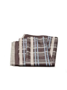 Cotton/cashmere check scarf. 70 x 180 cm. #ss15 #man #accessories