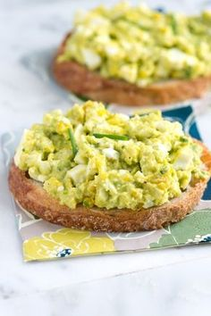 Easy Avocado Egg Salad Recipe from www.inspiredtaste... #recipe Just swap the bread for Ezekiel and this is perfect!