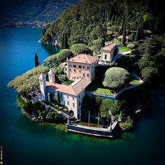 Villa del Balbianello, this entire peninsula is one stunning villa in Lake Como, Italy -- James Bond and Ocean's 11 filmed here.