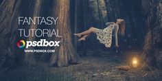 Fantasy Photoshop Tutorial – Floating Lady   PSD Box