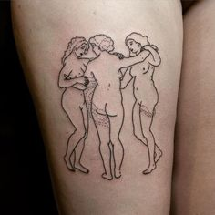The Three Graces by Rubens #hanpoked for Lisa  I'd love to do more large scale #stickandpoke's like this