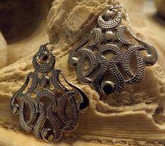 Large openwork metal Earrings by DebWiseCreations on Etsy, $5.99