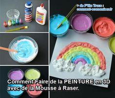 Les enfants adorent, et les parents aussi ! Il faut dire que cette recette est vraiment simple. Et le résultat est super sympa ! Découvrez l'astuce ici : http://www.comment-economiser.fr/recette-facile-peinture-3d-mouse-raser.html?utm_content=bufferc0a9d&utm_medium=social&utm_source=pinterest.com&utm_campaign=buffer