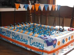 My son wants a swimming cake for his birthday... I found this one in internet