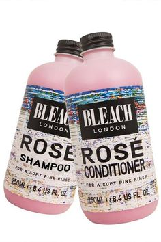 pinkish hair, without dye? that sounds kinda fun!  Bleach London Super Cool Color Rose Temporary Hair Color, $7.83, available at Bleach London. #refinery29 http://www.refinery29.com/kate-young-holiday-shopping#slide-8