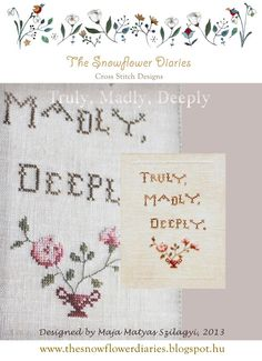 The Snowflower Diaries: Truly, Madly, Deeply