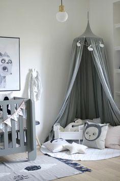 Kinderzimmer einrichten Bilder fBett Kuschelecke gestalten