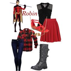 """Robin III - Young Juctice"" by roishey on Polyvore"