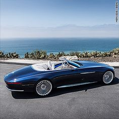 Mercedes-Benz Maybach Vision 6 Cabriolet 2018 on Behance Mercedes Benz Maybach, Benz Car, New Mercedes, Luxury Hybrid Cars, New Luxury Cars, Ferrari, Lamborghini, Pebble Beach, Rolls Royce