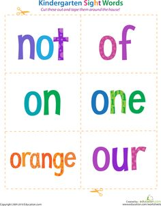 Preschool Reading & Writing Worksheets: Pre-Kindergarten Sight Words: See to Up Preschool Learning, Fun Learning, Learning Activities, Teaching Kids, Preschool Worksheets, Writing Worksheets, Preschool Readiness, Weather Worksheets, Spelling Worksheets