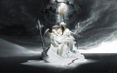 Fall of Lucifer Pieta surreal Wallpaper@webgranth