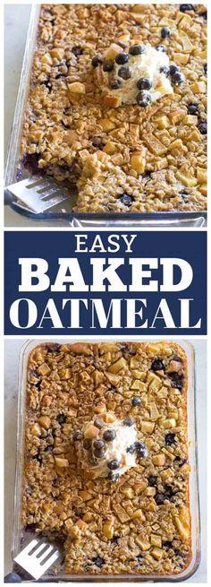 Fun Easy Recipes, Popular Recipes, Delicious Recipes, Free Recipes, Easy Meals, Baked Oatmeal Recipes, Good Food, Yummy Food, 9x13 Baking Dish