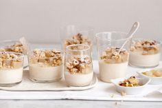 Cinnamon Sheep Milk Yogurt Panna Cotta with Spiced Poached Pears & Hazelnut-Oat Streusel   Now, Forager   Teresa Floyd Photography