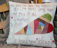 """Tutorial: Piecing """"A Brand New Heart"""" -- Aww, I LOVE this idea! :D <3"""