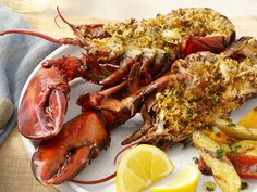 Give guests a special surprise when you serve Deviled Portuguese Lobster from #FNMag. #GrillingCentral