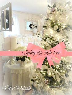 shabby chic christmas tree skirts | Shabby chic Christmas Home tour - Debbiedoo's