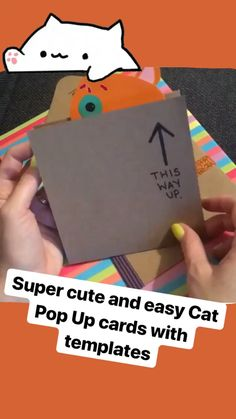 How cute are these Pop Up Cards? If you love cats. you must have a go at these fabulously cute cat pop up cards. Check out the link for info! 3d Cards, Pop Up Cards, Love Cards, Folded Cards, Cards Diy, Paper Crafts For Kids, Diy For Kids, Fun Crafts, Cards For Kids