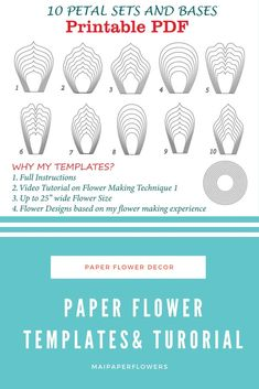 With this paper flowers templates and tutorial, you can create tons of large paper flowers at so saving cost with my templates, instructions and video. Great for your paper flowers diy projects with Printer. Click through for more views and to find it at affordable cost!!!  #paperflowerstemplate #paperflowertemplate #paperflowerstutorial #largepaperflowers #paperflowersdiy
