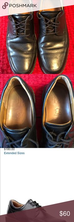 Ecco dress shoes Men's size 43 which is a 9/9.5 based on size chart  Black leather Paid $180 new and worn 2x Ecco Shoes