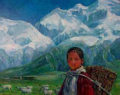 paintings tibetan women - Google zoeken