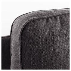 IKEA - STOCKSUND Loveseat Nolhaga dark gray, light brown/wood Ikea Stocksund, Norsborg, Ikea Us, Ikea Sofa, Sofa Legs, Design Your Life, Brown Wood, Black Wood, Gray Sofa