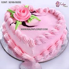 Valentine Cake Design - Buy & Shop Designer & Decorated Cakes for Valentine's Day Feb) from Kalpa Florist Midnight & Same Day Delivery Strawberry Hearts, Strawberry Topping, Types Of Bread, Types Of Cakes, Valentine Chocolate, Valentine Cake, Valentines Day Gifts Boyfriends, Valentine Day Gifts, Heart Shaped Cakes