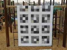 Black and White Quilt for J + N