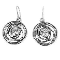 Beautiful 925 Sterling Silver White CZ Jewelry Drop Earrings