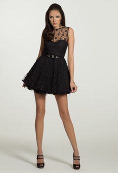 Homecoming Dresses - Lace Illusion Dress from Camille La Vie and Group USA