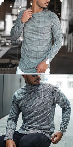 Trendy Mens Shirt Men's long-sleeved shirts, exclusive to fashionable men, suitable for all seasons. More trendy mens clothes just on Dayclevershop. Gents Fashion, Mens Fashion Suits, Mode Masculine, Trendy Outfits, Fashion Outfits, Fashion Top, Fashion Clothes, Traje Casual, Mode Man