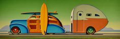Catalina by artist Robert LaDuke Art Deco Posters, Vintage Posters, Vintage Art, 3d Prints, Automotive Art, Clip Art, Art For Art Sake, Retro Art, Types Of Art