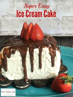 Super Easy Ice Cream Cake Recipe Hack. You can make this in less than 5 minutes