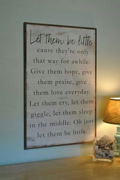 BE LITTLE kids sign distressed shabby chic painted wooden sign kids room wall decor painted farmhouse playroom wall art by ThePeddlersShed on Etsy Painted Wooden Signs, Wooden Decor, Let Them Be Little, Diy Home, Home Decor, Toy Rooms, Shabby Chic Decor, Home Fashion, India Fashion