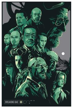 Breaking Bad by Ken Taylor Breaking Bad Poster, Breaking Bad Arte, Affiche Breaking Bad, Breaking Bad Series, Breaking Bad Seasons, Breking Bad, Bad Fan Art, Old Posters, Music Posters