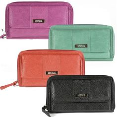 Kenneth Cole Reaction Womens Urban Organizer Clutch Wallet Saffiano Haute! for only $22.95