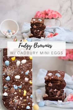 There aren't enough recipes with cadbury mini eggs - and tehre should be millions. A fudgy brownie recipe perfect & colorful for easter dessert Fudgy Brownie Recipe, Fudgy Brownies, Brownie Recipes, Cadbury Milk Chocolate, Bakers Chocolate, Mini Egg Recipes, Cadbury Eggs, Mini Eggs, Favorite Candy