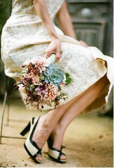 Vintage wedding flower bouquet, funky wedding flowers Dublin, Creative wedding flowers Dublin